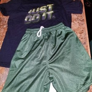 Nike dri fit athletic shorts outfit mix